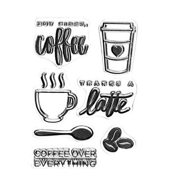 Coffee Clear Stamps