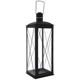 Black Farmhouse Metal Lantern