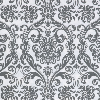 Flamingo Gray Abigail Duck Cloth Fabric