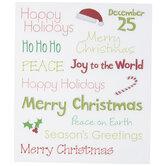 Christmas Sentiments Glitter Stickers