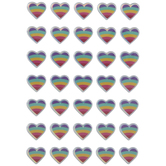 Rainbow Heart Puffy Stickers