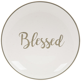 White & Green Blessed Plate