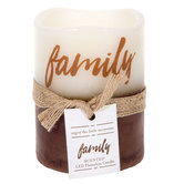 Family Vanilla Sugar LED Pillar Candle