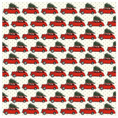 "Christmas Car & Polka Dot Scrapbook Paper - 12"" x 12"""