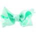 Mint Grosgrain Bow Hair Clip