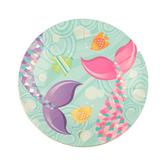Mermaid Tail Birthday Paper Plates - Small