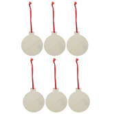 Flat Ball Ornaments