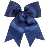 Navy Cheer Bow Hair Tie