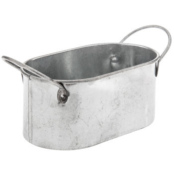Galvanized Metal Oval Container