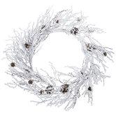 Flocked Twig & Pinecone Wreath