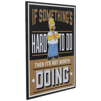 Homer Simpson Quote Wood Wall Decor