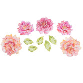 Watercolor Flowers 3D Adhesive Wall Art