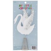 Mini Glitter Swan Tree Topper