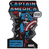 Captain America Comic Cover Wood Wall Decor