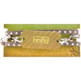 Gray Studded Leather Wrap Bracelet
