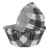 Black & White Buffalo Check Baking Cups