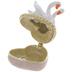 Swans On Heart Jewelry Box