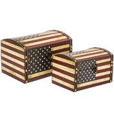 American Flag Wood Box Set