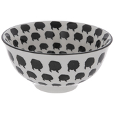 Black & White Pig Print Bowl