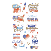 4th Of July Foil Stickers