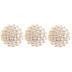 Ivory Beaded Plastic Pearl Beads - 20mm
