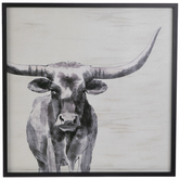 Watercolor Longhorn Wood Wall Decor
