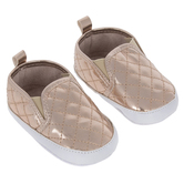 Rose Gold Quilted Infant Shoes - 3-6 Months