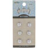 Silver Dome Metal Shank Buttons - 11mm