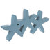 Blue & White Wood Starfish