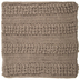 Taupe Macrame Pillow Cover