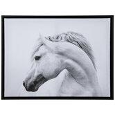 Black & White Horse Head Canvas Wall Decor