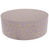 """Pink & Gold Leopard Round Box - 12 1/4"""" x 4 3/8"""""""