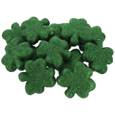 Green Glitter Foam Shamrocks