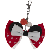 Red Minnie Mouse Bow Keychain