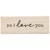PS I Love You Rubber Stamp