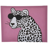 Pink Cheetah In Sunglasses Canvas Wall Decor