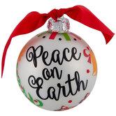 Peace On Earth 2020 Snowman Ball Ornament