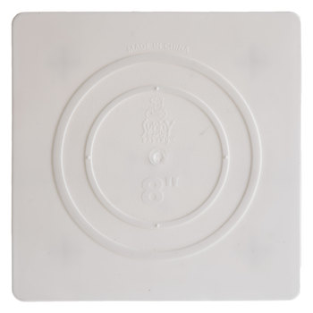 "White Square Cake Separator Plate - 8"""