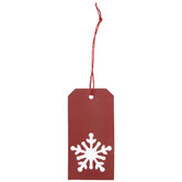 Red Snowflake Cut-Out Gift Tags