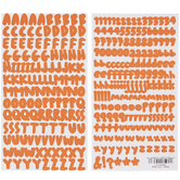 Orange Stanton Alphabet Stickers