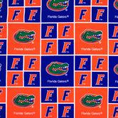 Florida Block Collegiate Cotton Fabric