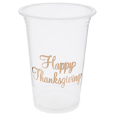 Happy Thanksgiving Copper Foil Cups