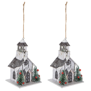 Glitter Farmhouse Ornaments