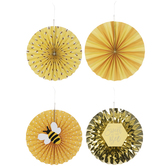 Sweet As Can Bee Paper Fans