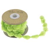 """Light Green Pom Pom Ribbon - 5/8"""""""