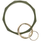 Green Silicone Bracelet Keychain