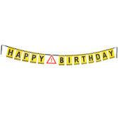 Happy Birthday Construction Banner