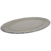 Antique White Flourish Crackled Platter