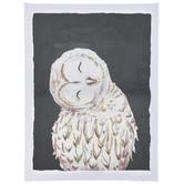 Tilted Owl Canvas Wall Decor