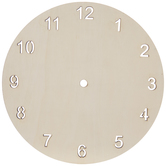Arabic Numeral Wood Clock Face